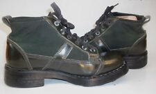 oXs FRANK Wos Ankle desert Boots EU 37 US 7 Green Leather Textile Lace Italy