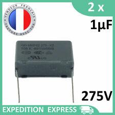 2 condensateurs MKP62 X2 1µF 1uF 1000nF 105K 105 K 275 V 250V 40/110/56/B M