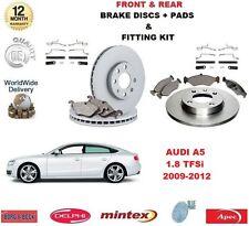 para AUDI A5 Hatch 1.8 TFSI 2009-2012 delante + discos de freno Trasero