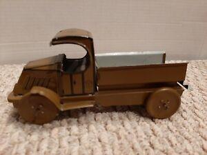 "Vintage 1920's J. Chein Tin Litho Open C Cab Mack Army Truck 8"" Super Clean E2"