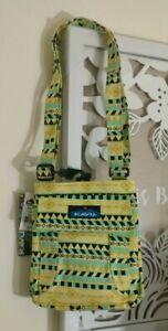NWT KAVU Mini Keeper Crossbody Bag in Gold Belt Purse Student School Travel