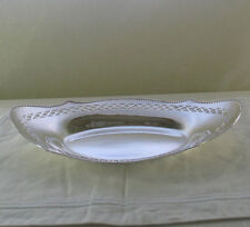 Silver Bread Boat or Candy Dish Pierced Border
