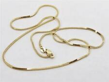 "14K 18"" Inch 1.1mm Yellow Gold Milano Box Necklace Pendant Chain Lobster Clasp"