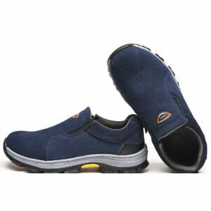 New Men's Safety Shoes Steel Toe Cap Work Boots Slip On Shoes Protect Trainers