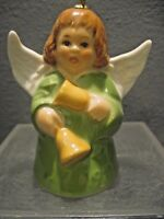 GOEBEL ANGEL-BELL GREEN GOWN ANNUAL CHRISTMAS TREE ORNAMENT 1986 11TH EDITION