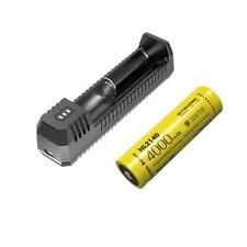 Combo: Nitecore Ui1 Portable Usb Charger & Nl2140 21700 Battery w/Free Eco-Sensa