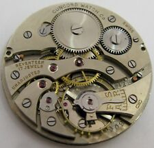Concord round pocket Watch Movement & Dial (Cowell & Hubbard) 17 jewels OF