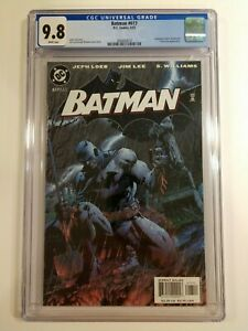 Batman # 617 CGC 9.8 WP Jim Lee Jeph Loeb