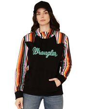 Wrangler Womens Contrast Serape Logo Hoodie Lwk377x