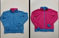 Nike reversible jacket With Hood Womens Large Pink Blue EUC Pre-owned
