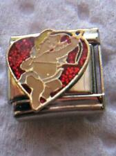 """""""CUPID WITH ARROW IN HEART"""" 9MM ITALIAN CHARM-VALENTINES DAY, FEBRUARY,TRUE LOVE"""
