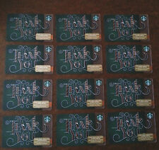 "STARBUCKS ""THANK YOU"" HOLIDAYS CHRISTMAS GIFT CARD ~ NO VALUE ~ LOT OF 12"