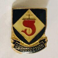 Resurrection Christian Christ Whale Tail Design Pin Badge Rare Vintage (A10)