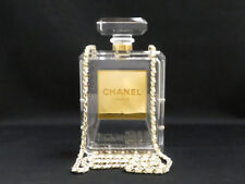 Auth CHANEL 2014 Minaudiere No. 5 Perfume Bottle Clutch Shoulder Bag - e38291