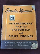 INTERNATIONAL NISSAN 817 CARBURETED DIESEL ENGINE SERVICE MANUAL 1966 ARBURATOR