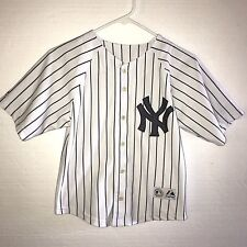 111fc8d110d New York Yankees Jersey Youth Jeter  2 White Black Sewn Size Small B59