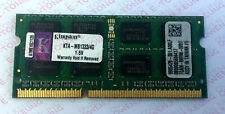 Laptop Notebook Kingston 4GB x1 DDR3-1333 KTA-MB1333/4G Memory RAM 1.5V 204pin