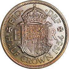More details for uk elizabeth ii half crown coin 1954 unc colourful tone artificial?
