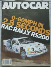 Autocar magazine 12/11/1986 featuring Ford RS200, Suzuki Swift GTi , Lotus