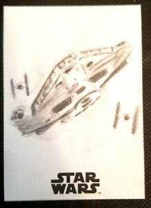 TOPPS SOLO: A STAR WARS STORY 1/1 HAND DRAWN SKETCH CARD * MILLENINIUM FALCON*