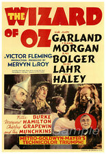 VINTAGE 1939 THE WIZARD OF Oz A4 POSTER PRINT