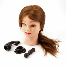 26'' Hairdressing Training head with 30% Real Human Hair Mannequin Doll&Clamp