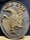 Authentic Large Cast Iron Eagle Hose No. 2 Plaque. Numbered. See Photos.