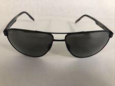 MAUI JIM Sunglasses CASTLES 728-2M Polarized Aviator Matte Black SuperThin Glass