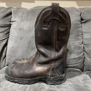 Justin Joist Brown Waterproof Composition Toe Leather Work Boots WK1001 8.5 Men