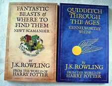 HARRY POTTER SCHOOL BOOKS, 2009 JK ROWLING BLOOMSBURY x2  Quidditch & Beasts.