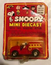 1965 Aviva Toys, Snoopy Mini Die-Cast, Snoopy in Fire Engine, Sealed