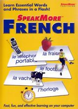 SpeakMore Learn to SPEAK More FRENCH Language (PC Software) FREE US SHIPPING