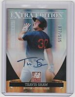 Travis Shaw 2011 Donruss Elite RC Auto/Autograph #77/535 Red Sox FREE SHIP