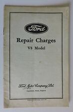 Ford Réparation frais livret MANUEL 1937 Modèle V8