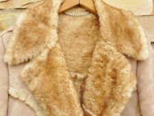 Vtg Men's Justin HEAVY Sheepskin SHEARLING Leather Jacket Coat 36 Rare Size USA