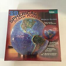 "NEW 3D Spherical 9.5"" World Globe 530 Piece Jigsaw Puzzle SEALED BGI"