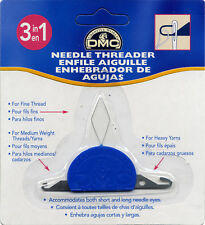 DMC 3 in 1  Needle Threader threads fine, medium and heavy yarns