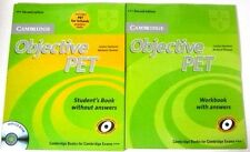 Objective PET Student's Book + Workbook with CD,answers Cambridge Second edition