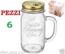 6pz Bormioli Rocco Vaso quattro stagioni con manico e Capsule 41 5 cl Vetro