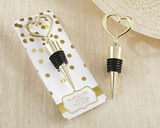 Heart Shaped Gold Bottle Stopper Wedding Decoration 20pcs Free Shipping