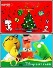 2x DISNEY MUPPETS SHOW WALMART CHRISTMAS PEANUTS MUSIC COLLECTIBLE GIFT CARD LOT For Sale