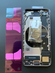 ORIGINAL APPLE iPHONE 8 WHITE REAR CHASSIS HOUSING WITH GENUINE PARTS - GRADE A