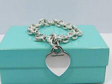 Tiffany & Co. 925 Sterling Silver Heart Tag Bracelet 7.25'' Long - 34.8 grams