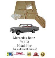 Mercedes-Benz W107 C107 R107 SL Sun Visors Leatherette vanity mirror Palomino