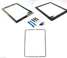 Apple Ipad 2 écran tactile Digitizer verre HQ Noir + Ensemble d'OUTILS +cadre