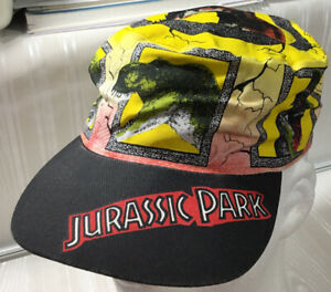 Vintage 1992 Fresh Caps Jurassic Park Stretch Back Painters Hat YOUTH SIZE