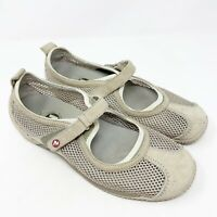 Merrell Orthalite Womens Beige Mesh Mary Jane Athletic Shoes Size 8.5M