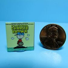 Dollhouse Miniature Replica of Book Its a Big World Charlie Brown ~ B021