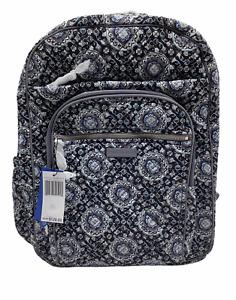 Vera Bradley XL Campus Backpack, NWT, Charcoal Medallion 24014-MO8