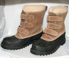 L.L.Bean Men's Brown Suede Leather Wool-Lined Snow Winter Boots Size 7